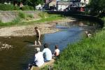 Afkoeling in de Ourthe